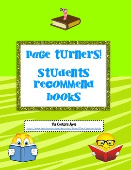 Student Book Reviews- Page Turners!
