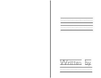 Free Student Book Writing Template