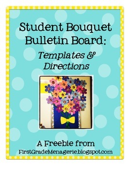 Student Bouquet Bulletin Board Templates