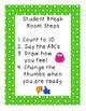 Student Break Room, Self-Management Behavior Plan