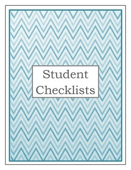 Teacher Binder: Student Checklist