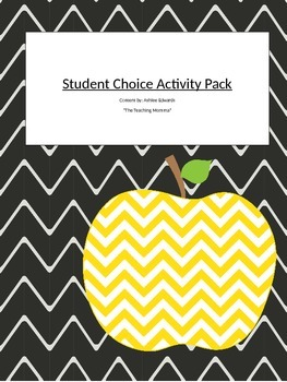 Student Choice Activity Packet
