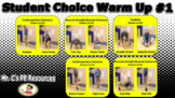 Student Choice Fitness Warm Up Powerpoint #1