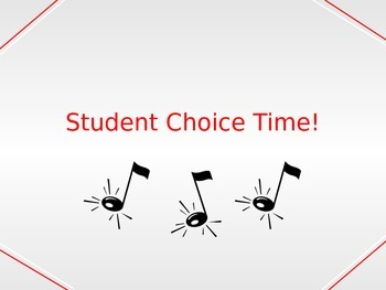 Student Choice Time!  Music Genre Singing Powerpoint