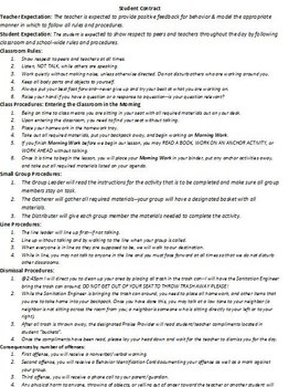 Student Classroom Contract