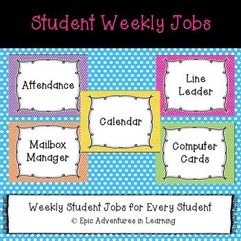 Student Classroom Jobs