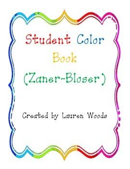 Student Color Book - Zaner Bloser