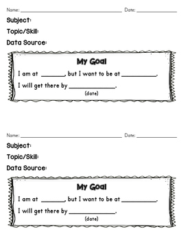 Student Conference Goal Setting