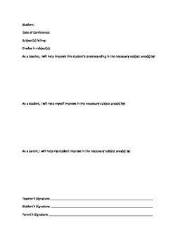 Student Conference Sheet