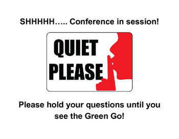 Student Conference Sign