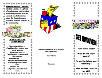 Student Council Informational Brochure