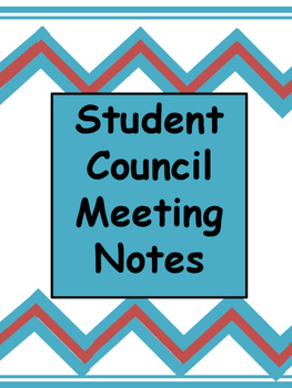 Student Council Meeting Notes Template