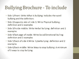 Student Created Bullying Brochure