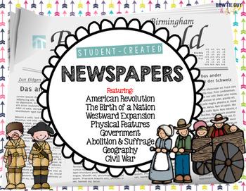Student Created Newspapers Social Studies Bundle {GA Miles