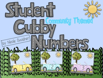 Student Cubby Numbers- Community Themed!