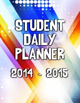 Student Daily Agenda/Planner Cover