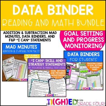 Student Data Binders BUNDLE! Reading and Math Goal Setting
