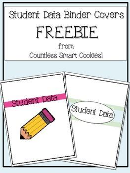 Student Data Binder Covers FREEBIE