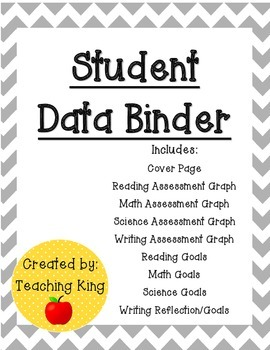 UPDATED: Editable Student Data Binder, Graphs and Goals: G