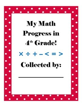 Student Data Common Core Math Notebook