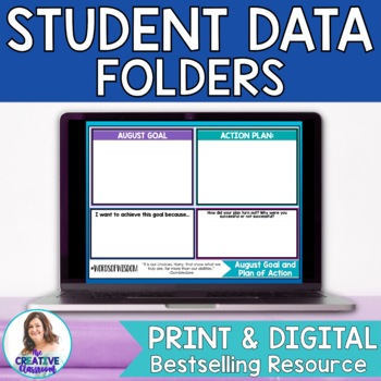 Student Data Folder-Goal Setting, Data Tracking Charts, an
