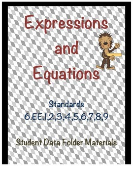 Student Data Folders - 6th Grade Common Core Math Standards Set