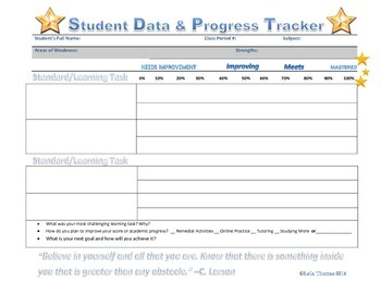 Student Data & Progress Tracker