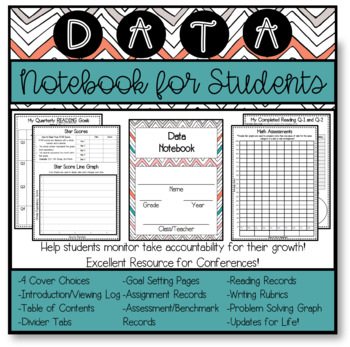 Data Notebook for Upper Elementary Students Grades 3-6 (Al