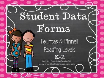 Student Data Tracker - Reading Levels