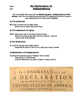 Student Declaration of Independence