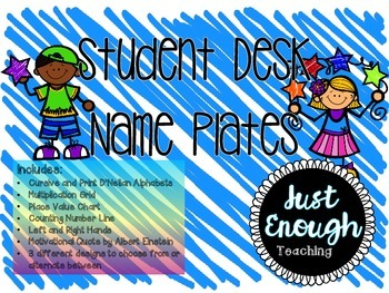 Student Desk Nameplates for Grade 3-4