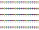 HORIZONTAL Student Desk Number Lines - Rainbow Bright (0-1