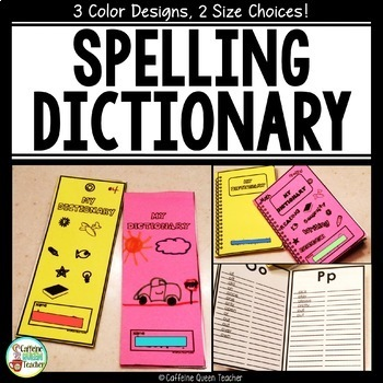 Student Dictionary For Spelling With Dolch Sight Words
