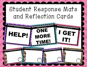 Student Discovery Mats & Reflection Cards (dry erase board
