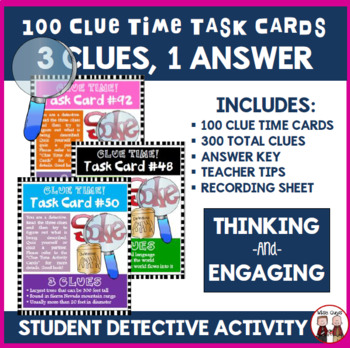 Student Engagement with Three Clues and One Answer 100 Clu