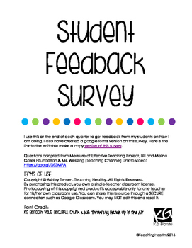 Student Feedback Survey