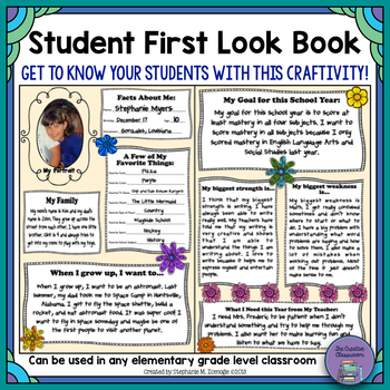 Student First Look Book using Manila Folders