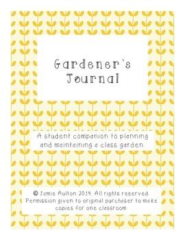 Student Garden Journal