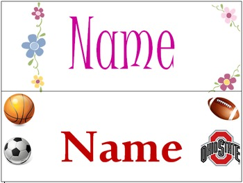 Student Gift - Name Bookmarks