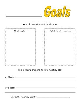 Student Goal Card