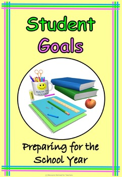 Student Goal Setting Back to School or End of Year Fun, Pr