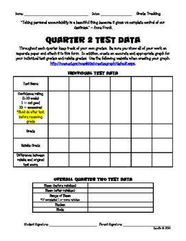 Student Grade Tracking Form