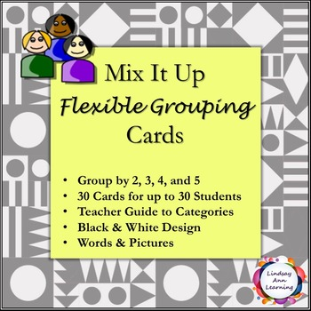 Student Grouping Cards with Words and Pictures
