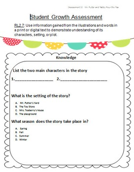 Student Growth Assessment for Second Grade