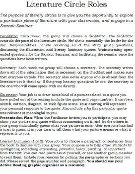 Student Guide to Literature Circles