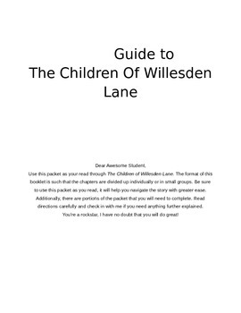 Student Guide to The Children of Willesden Lane