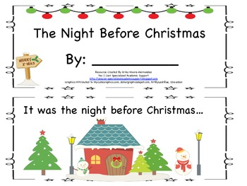 Student Guided Reading Book: The Night Before Christmas (S