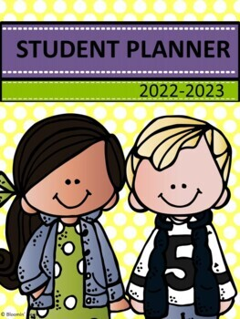 Student Homework Planner with Spelling List