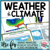 Weather and Climate Student Vocabulary Activity Notebook