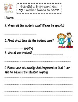 Student Incident Form